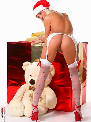 Natali Blond Merry Christmas pussy pussy and sex